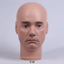 Tête de Mannequin Homme H30 - 59 cm
