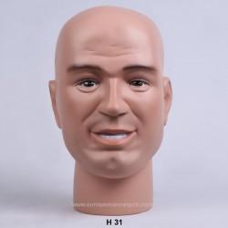 Male Mannequin Head H31 - 52,5 cm