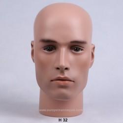 Male Mannequin Head H32 - 57 cm