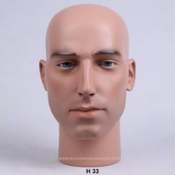 Tête de Mannequin Homme H33 - 56 cm