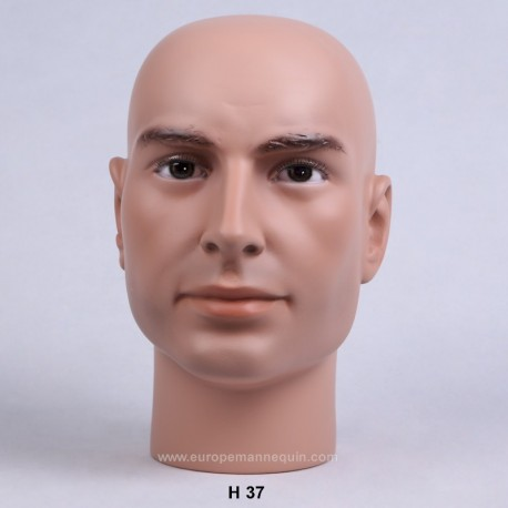 Europe Mannequin : Realistic Male Mannequin Head - Militaria - Collection - Museum - Yanks - Collector - Headgear - Helmet