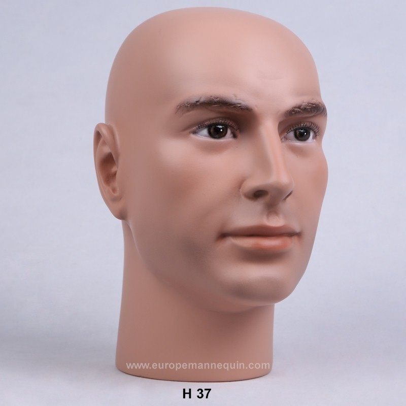 Realistic Male Mannequin Head Militaria Collection