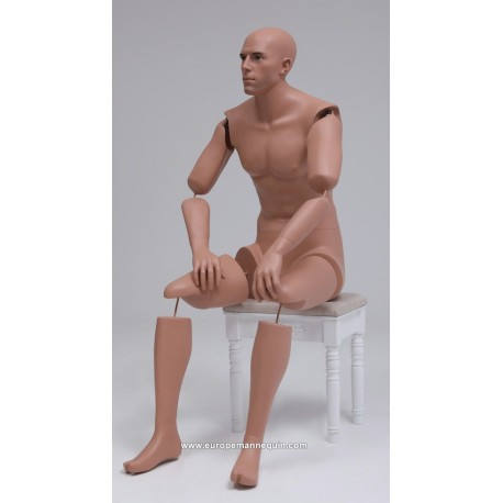 Europe Mannequin Sitting Articulated Mannequin MSAP 09 ART Museum Collection