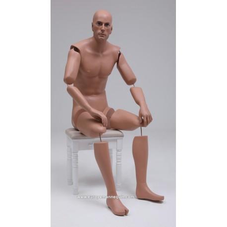 Europe Mannequin Homme Assis Articulé MSAP 13 ART Musées Collections Chevaux Motos Véhicules