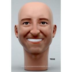 Tête de Mannequin Homme TE02 - 56 cm