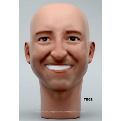 Male Mannequin Head TE02 - 56 cm