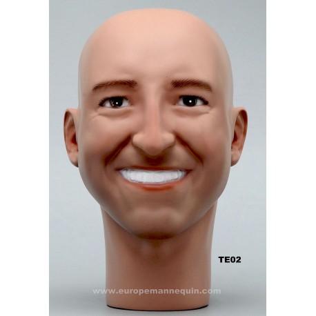 Male Mannequin Head TE02 - 56 cm