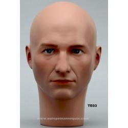 Tête de Mannequin Homme TE03 - 54,5 cm