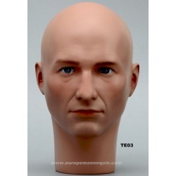 Male Mannequin Head TE03 - 54,5 cm