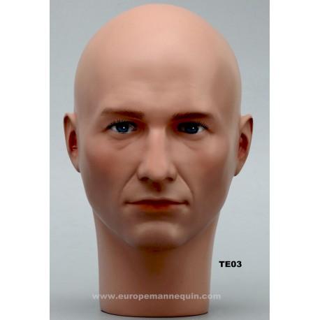 Male Mannequin Head TE03 - 54,5 cm