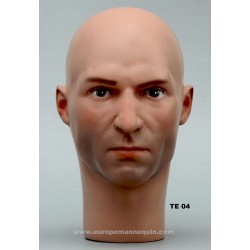 Male Mannequin Head TE04 - 53,5 cm