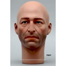 Tête de Mannequin Homme TE07 - 54 cm