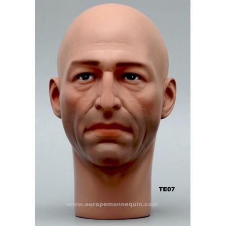 Male Mannequin Head TE07 - 54 cm