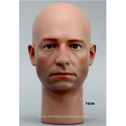 Male Mannequin Head TE08 - 53 cm