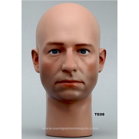 Male Mannequin Head TE08 - 53 cm