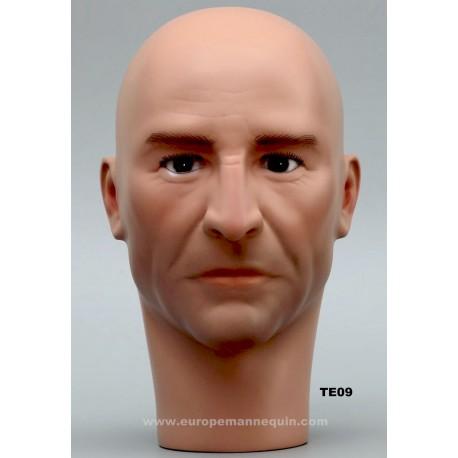 Male Mannequin Head TE09 - 55 cm