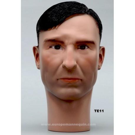Male Mannequin Head TE11 - 56,5 cm
