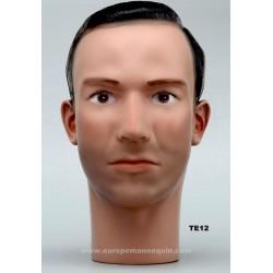 Tête de Mannequin Homme TE12 - 56 cm