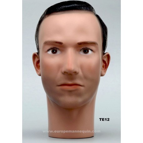 Male Mannequin Head TE12 - 56 cm