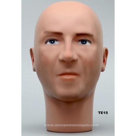 Male Mannequin Head TE15
