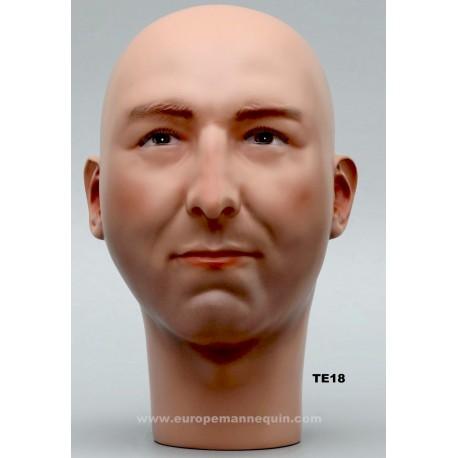 Male Mannequin Head TE18