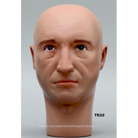 Male Mannequin Head TE22