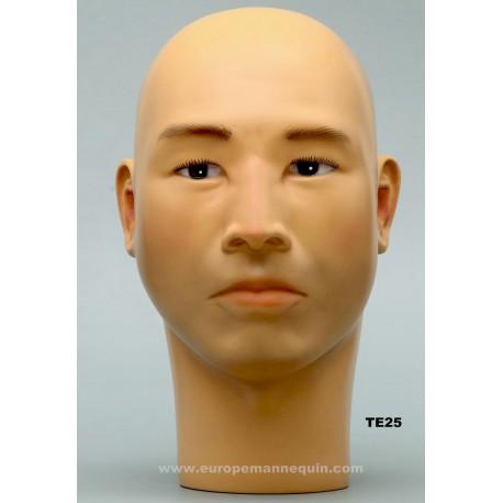 Asian Male Mannequin Head TE25 - cm