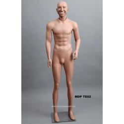 Homme debout MDP TE02 Tête amovible