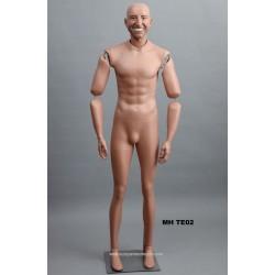 Homme debout articulé MH TE02 Tête amovible