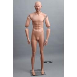 Homme debout articulé MH TE04 Tête amovible