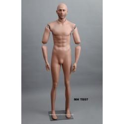 Homme debout articulé MH TE07 Tête amovible