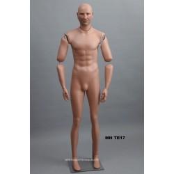 Homme debout articulé MH TE17 Tête amovible