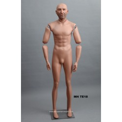 Homme debout articulé MH TE18 Tête amovible