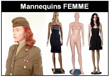 Europe Mannequin Collection Militaria Musée Réaliste Articulé Femme WW1 WW2 Yanks